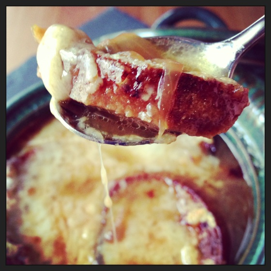 ginger-snapped - french onion soup