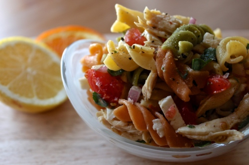 ginger-snapped | citrus & chicken pasta salad
