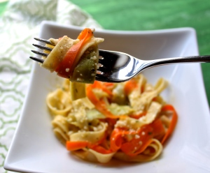 fresh veggie pasta | ginger-snapped.com